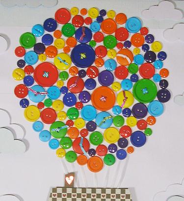 button-craft-idea-balloon-shape